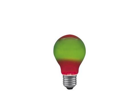 Klasická žárovka 25W E27 105mm červená/zelená