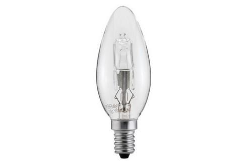 Halogenová žárovka svíčka 18W E14 čirá