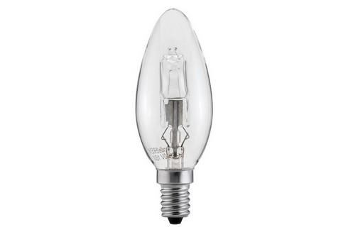 Halogenová žárovka svíčka 28W E14 čirá