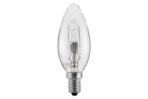Halogenová žárovka svíčka 42W E14 čirá