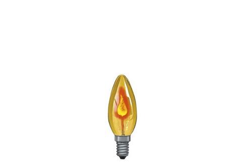 Žárovka plamínek 3W E14 žlutá