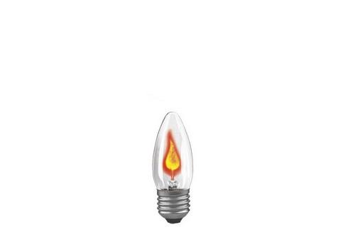 Žárovka plamínek 3W E27 čirá