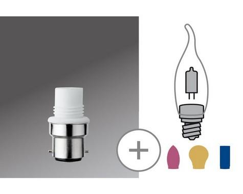 Halogenová patice mini pro G9 B22d 230V bílá