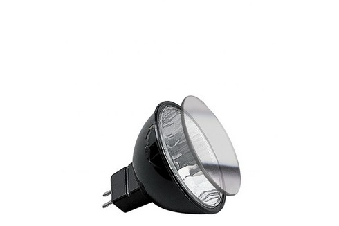 Halogenová žárovka Akzent flood 38° 50W GU5,3 12V 51mm černá