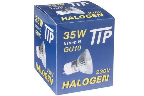 Halogenová žárovka 35W GU10 230V 51mm chrom