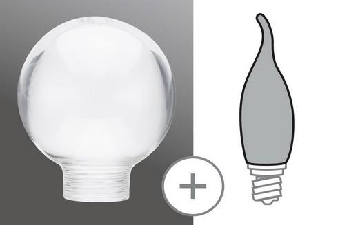 Sklo žárovka Miniglobe 60 minihalogen čirá