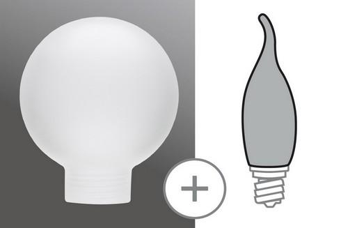 Sklo žárovka Miniglobe 60 minihalogen satin