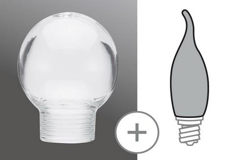 Sklo žárovka minihalogen čirá