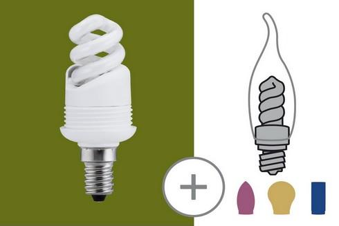 Úsporný světelný zdroj 5W E14 teplá bílá