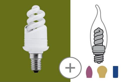Úsporný světelný zdroj 7W E14 teplá bílá