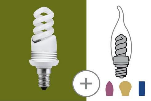 Úsporný světelný zdroj 9W E14 teplá bílá