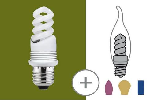 Úsporný světelný zdroj 10W E27 teplá bílá