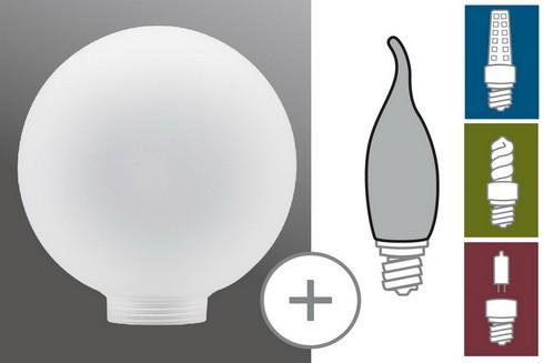 Sklo žárovka Globe 100 satin
