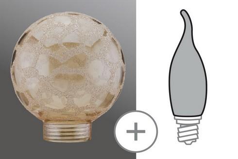 Kryt Žárovka Globe 60 minihalogen Krokoeis zlatá