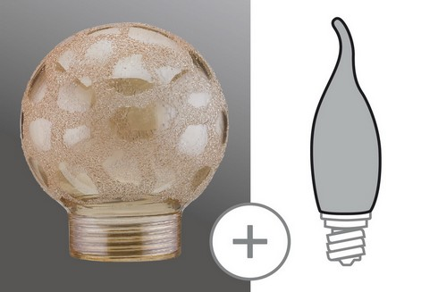 Sklo žárovka minihalogen Krokoeis zlatá