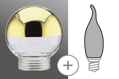 Sklo žárovka minihalogen zrcadlový vrchlík zlatá