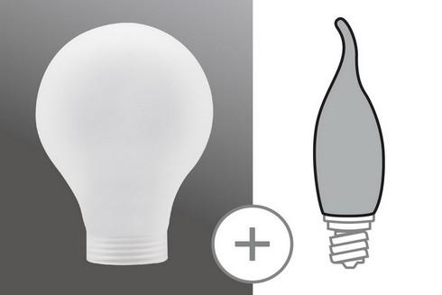 Kryt Klasická žárovka minihalogen satin