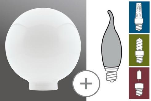 Kryt Žárovka Globe 100 opál