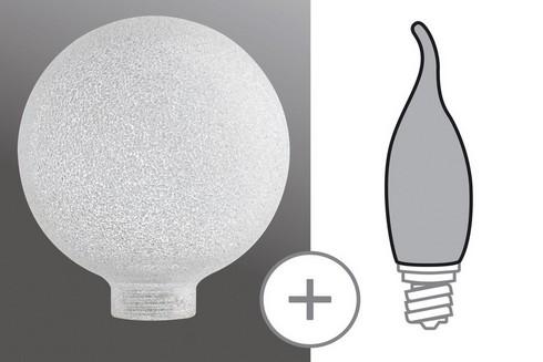 Sklo minihalogen Globe 80 Eiskristall čiré