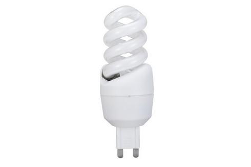 Úsporný světelný zdroj Spirale 9W G9 teplá bílá