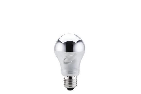 Úsporný světelný zdroj 9W E27 zrcadlový vrchlík stříbrná
