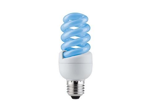 Úsporný světelný zdroj Spirale 15W E27 modrá