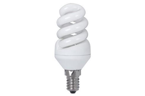 Úsporný světelný zdroj Spirale 7W E14 teplá bílá