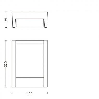 Venkovní svítidlo nástěnné LED 16460/93/16-6