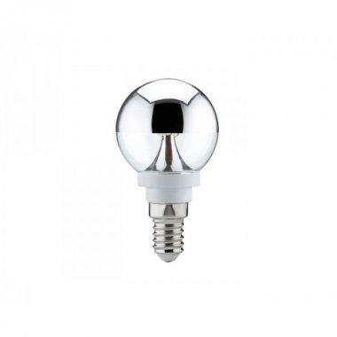 LED Tropfen 2,5W E14 zrcadlový vrchlík stříbrný - PAULMANN
