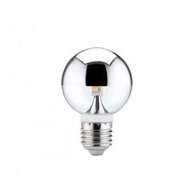 LED Globe 60 2,5W E27 zrcadlový vrchlík stříbrný - PAULMANN