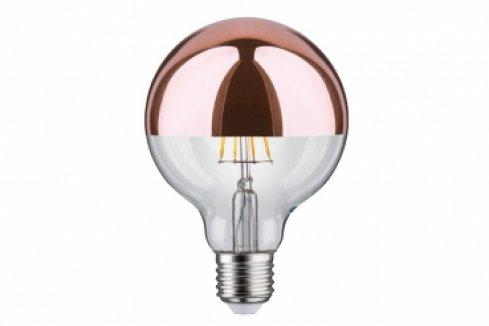 LED žárovka Globe 95 zrcadl.vrchlík měď 7,5W E27 teplá bílá - PAULMANN