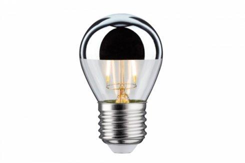 LED Retro žárovka 4,5W E27 zrcadl.vrchlík stříbrný teplá bílá stmívatelné - PAULMANN