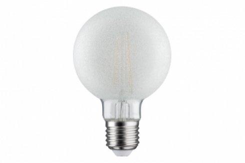 LED Retro žárovka Globe 80 6W E27 ledový kristal, teplá bílá stmívatelné - PAULMANN