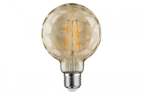 LED Retro žárovka Globe 95 6W E27 Krokoeis zlatá teplá bílá stmívatelné - PAULMANN