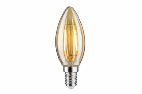 LED Retro žárovka 4,5W E14 zlatá teplá bílá stmívatelné - PAULMANN