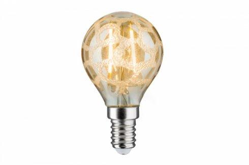 LED Retro žárovka 4,5W E14 Krokoeis čirá teplá bílá stmívatelné - PAULMANN