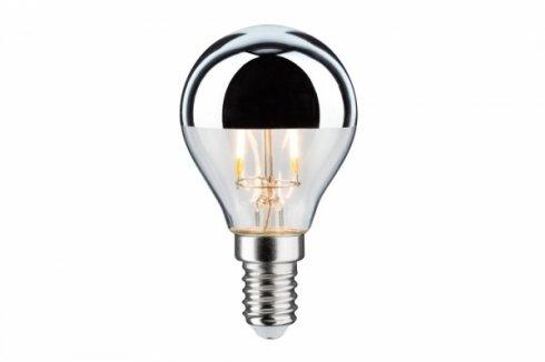 LED Retro žárovka 4,5W E14 zrcadl.vrchlík stříbrný teplá bílá stmívatelné - PAULMANN