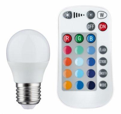 LED žárovka RGB 3,5W E27 s dálk.ovládáním - PAULMANN