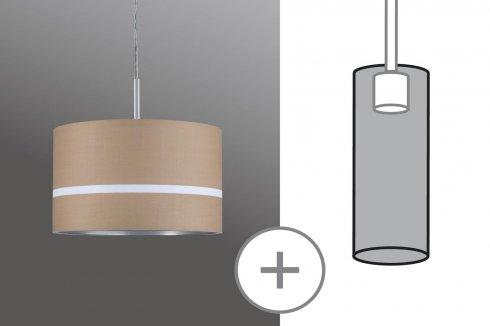 Látkové stínidlo Tessa karamel max. 50W průměr 25cm - PAULMANN