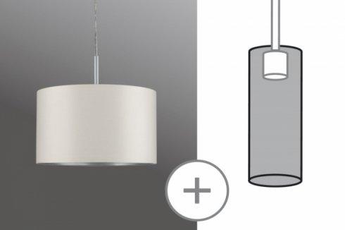 Látkové stínidlo Tessa krémové max. 50W průměr 25cm - PAULMANN