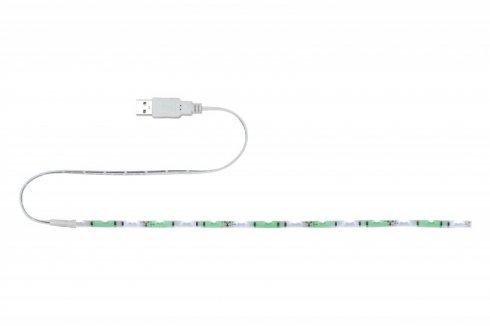 LED pásek 1,5W zelený/bílý s USB konektorem 30cm - PAULMANN