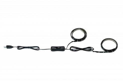 LED pásek 2W teplá bílá s USB konektorem 2x50cm - PAULMANN
