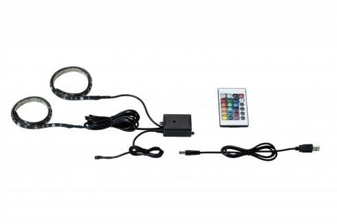 LED pásek 2,5W RGB s USB konektorem a výměnou barev 2x50cm - PAULMANN