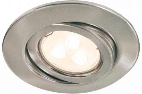 Zápustné svítidlo Quality Line 3,5W LED 3ks kartáč.železo výklop - PAULMANN