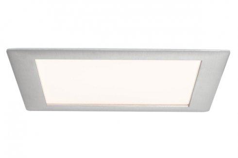 Zápustný LED panel hranatý 11W kartáč.železo teplá bílá stmívatelný - PAULMANN