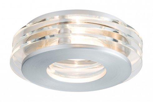 Zápustné svítidlo Premium Line Shell LED 3ks kartáč.hliník/sklo - PAULMANN