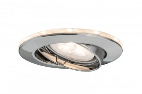 Zápustné svítidlo LED s hvězdným nebem kartáč.železo sada 3 ks - PAULMANN