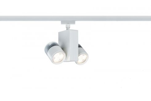 URail, LED-Spot, 2x9W, TecLed 230V, bílá