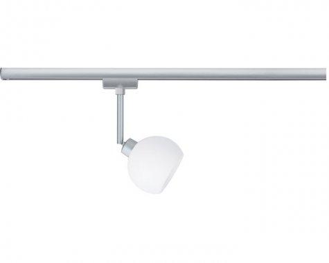 Spot URail LED 3,5W Wolbi 230V matný chrom / bílá - PAULMANN