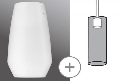 URail 2Easy stínidlo Vento opál sklo max. 50W - PAULMANN